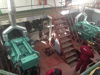Remotorizare impingator motor diesel 800 CP